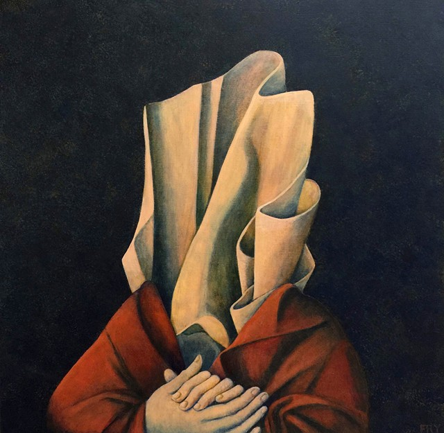 """Wistful Portrait"" by Leslie Fry - COURTESY OF FURCHGOTT SOURDIFFE GALLERY"