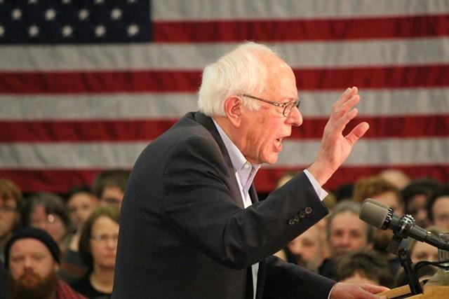 Sen. Bernie Sanders Sunday in Waterloo, Iowa - PAUL HEINTZ