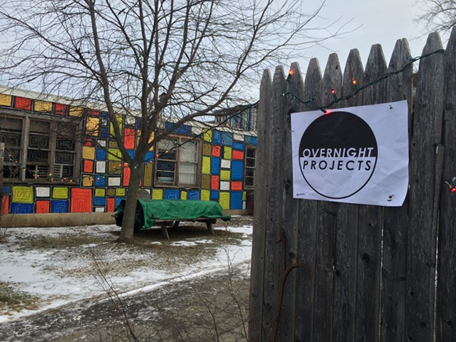 Outside the Overnight Projects outpost at 339 Pine - RACHEL ELIZABETH JONES