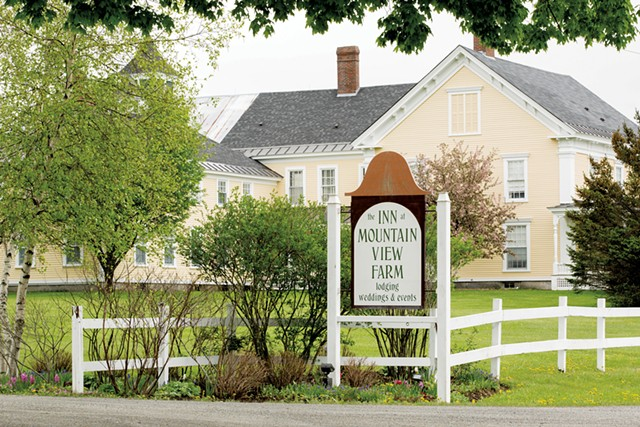 The farmhouse at the Inn at Mountain View Farm - COURTESY OF THE INN AT MOUNTAIN VIEW FARM