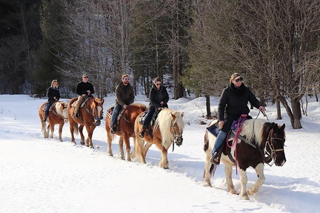 Winter horseback rides with Lajoie Stables - COURTESY OF LAJOIE STABLES