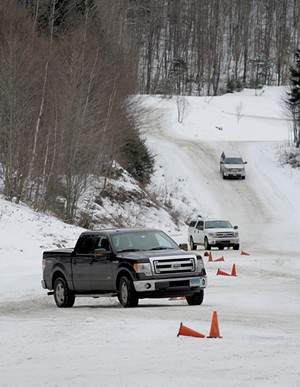 Cars on the winter driving school course at Team O'Neil Rally School - COURTESY OF TEAM O'NEIL RALLY SCHOOL
