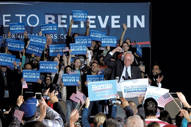 Sen. Bernie Sanders Friday in Dubuque, Iowa - MATTHEW TERRY