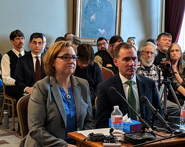 Alyssa and Rob Black testifying before the Senate Judiciary Committee in February 2019 - FILE: TAYLOR DOBBS ©️ SEVEN DAYS