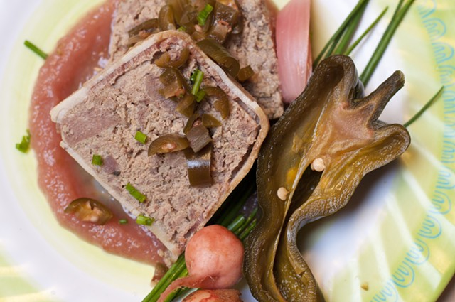 Pâté with pureed apple and pickle - HANNAH PALMER EGAN