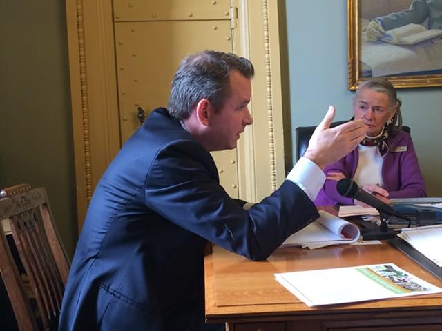 Christopher Maley, trial lawyers' spokesman - NANCY REMSEN