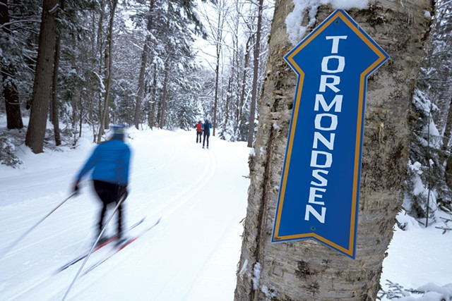 Cross-country skiing on a groomed trail - COURTESY OF BRETT SIMONSEN