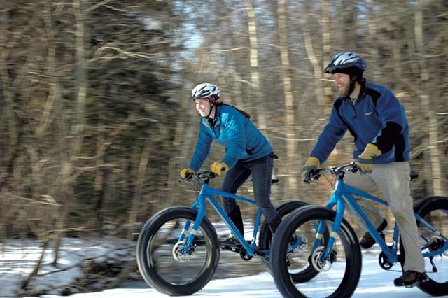 Fat biking - COURTESY OF CARRIE HERZOG