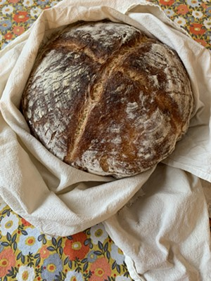 Freshly baked sourdough loaf (for which I can take no credit) - MELISSA PASANEN ©️ SEVEN DAYS