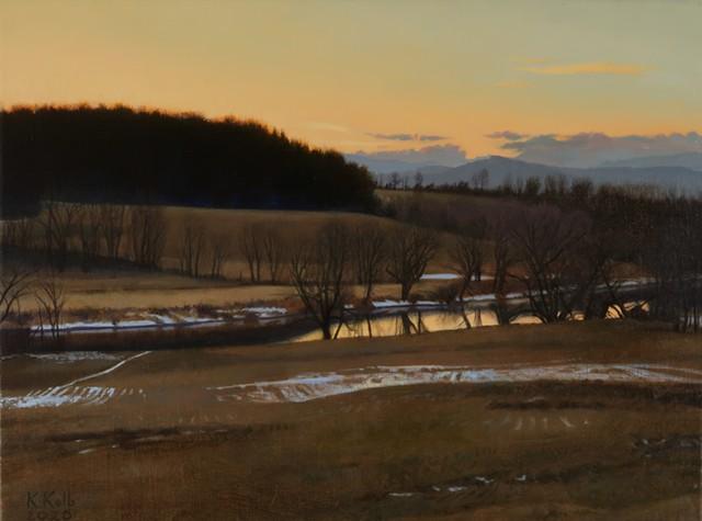 """Beginning of February"" by Kathleen Kolb - COURTESY OF BENNINGTON MUSEUM"