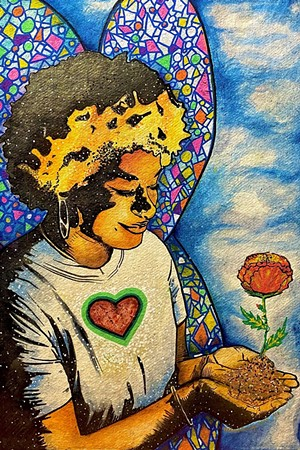 """""""Kelis the Afronaut: Unapologetically Black and Free"""" by Will Kasso Condry - COURTESY OF BENNINGTON MUSEUM"""