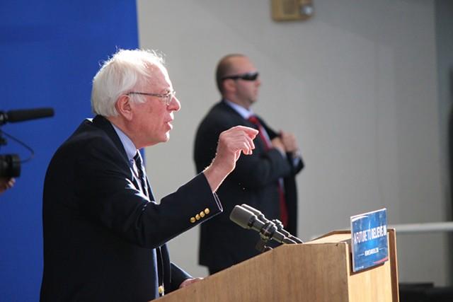 Sen. Bernie Sanders concedes the Nevada caucuses Saturday in Henderson. - PAUL HEINTZ