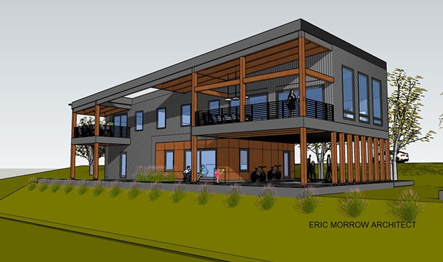 Passive house design and drawing by Eric Morrow - COURTESY OF ERIC MORROW
