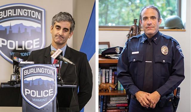 Mayor Miro Weinberger, left, and Brandon del Pozo - FILE: LUKE AWTRY