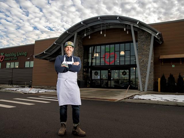 Matt Jennings at Healthy Living Market & Café in Williston - JAMES BUCK