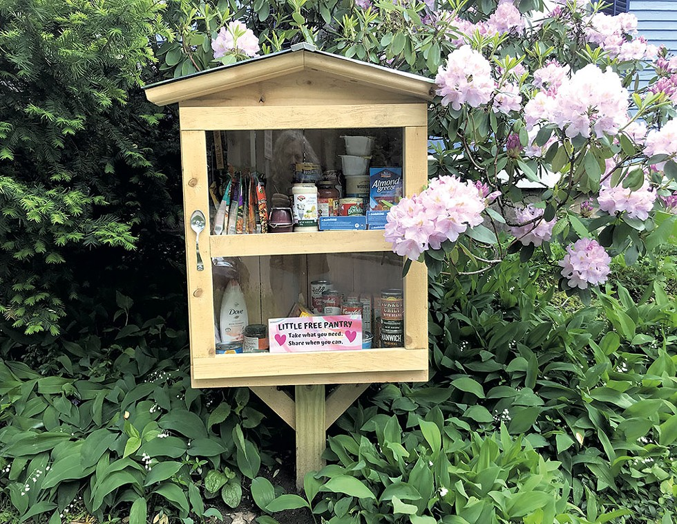 "A ""little free pantry"" - FILE: SALLY POLLAK"