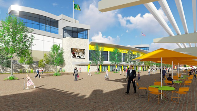 Conceptual rendering of the proposed Catamount Center - DORE & WHITTIER ARCHITECTS, INC.