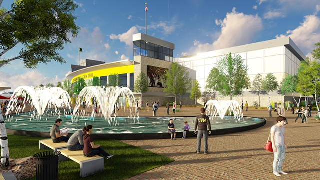 Fountain concept at arena - DORE &WHITTIER ARCHITECTS, INC.