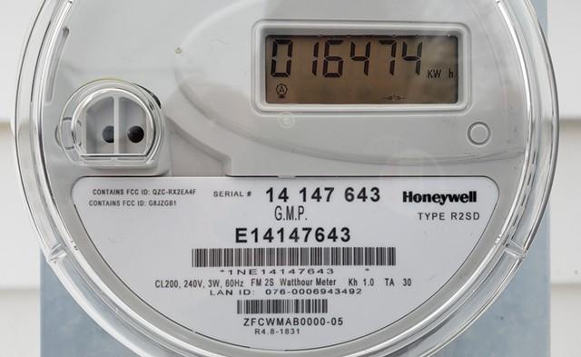 A Green Mountain Power meter. - KEVIN MCCALLUM ©️ SEVEN DAYS