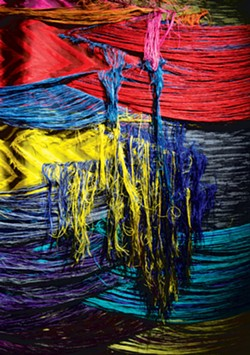 """Detail of """"Grief,"""" jacquard weaving by Liz Collins"""