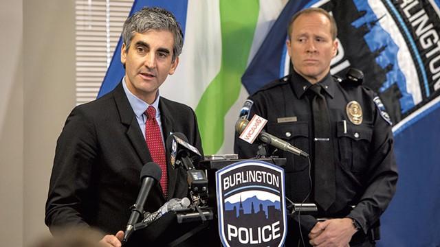 Mayor Miro Weinberger (left) and acting Chief Jon Murad - FILE: LUKE AWTRY