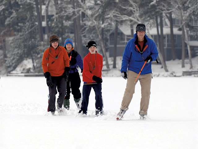 Ice skaters on the lake - FILE: JEB WALLACE-BRODEUR
