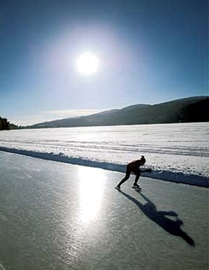 Ice skater on the lake - FILE: JEB WALLACE-BRODEUR
