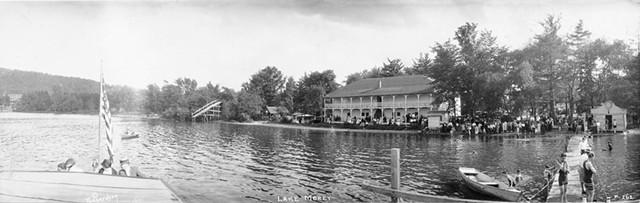 A historic photo of summertime at Lake Morey Resort - COURTESY OF LAKE MOREY RESORT