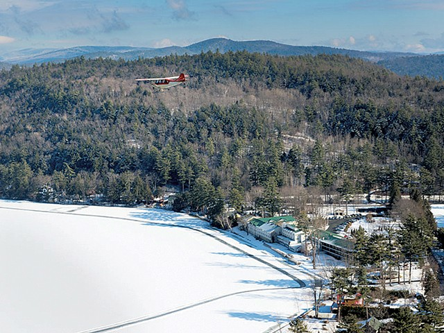 Aerial view of the skating trail - COURTESY OF LAKE MOREY RESORT