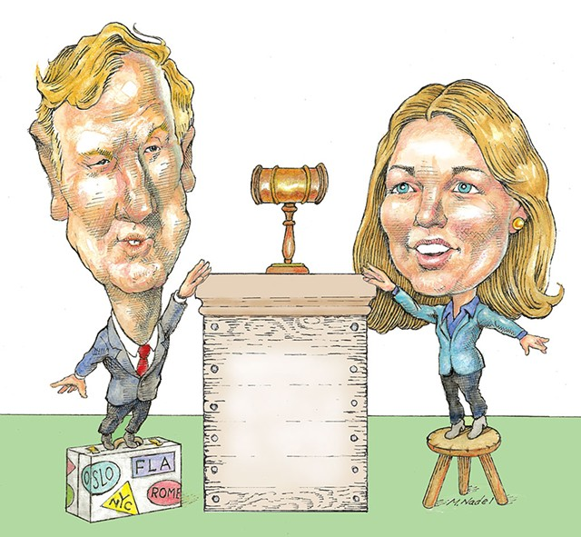 Scott Milne and Molly Gray - FILE: MARC NADEL