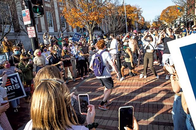 Burlington celebrates - the election of Joe Biden - FILE: LUKE AWTRY