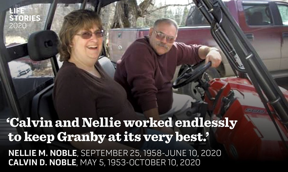 Nellie and Calvin Noble - COURTESY