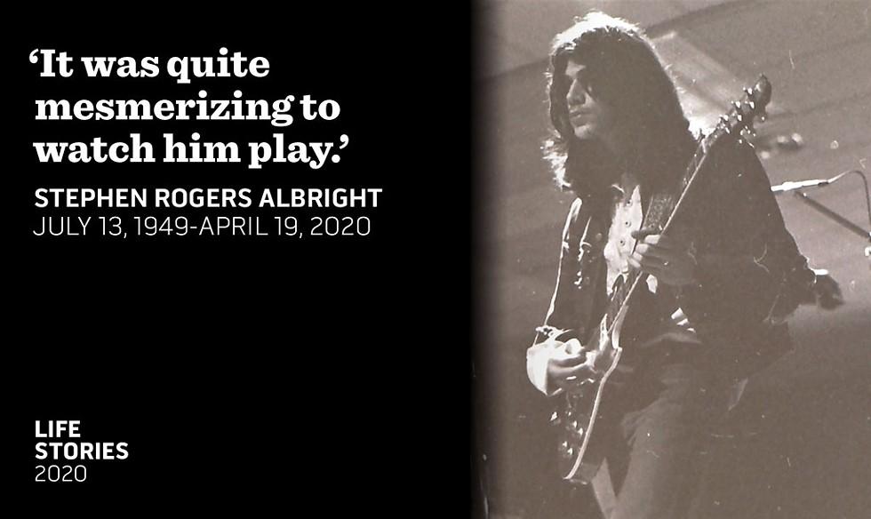 Stephen Albright at Burlington High School in 1971 - COURTESY OF TOM LITTLE
