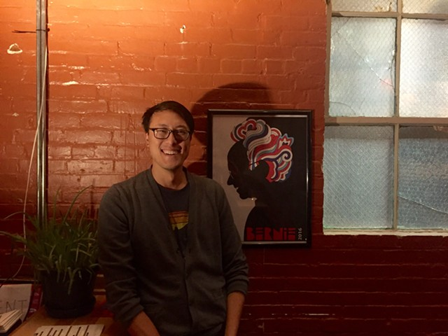 Felix Wai with artwork by Marnika Weiss - SADIE WILLIAMS