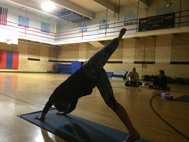 Yoga class at the Greater Burlington YMCA - ALICIA FREESE