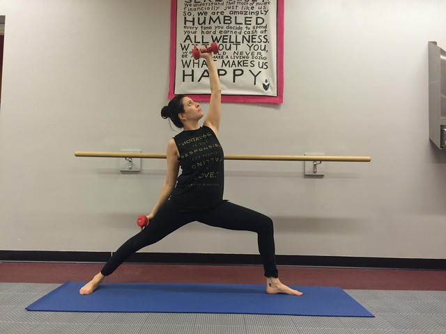 Yoga Sculpt  instructor Jacque Diaz - ALICIA FREESE