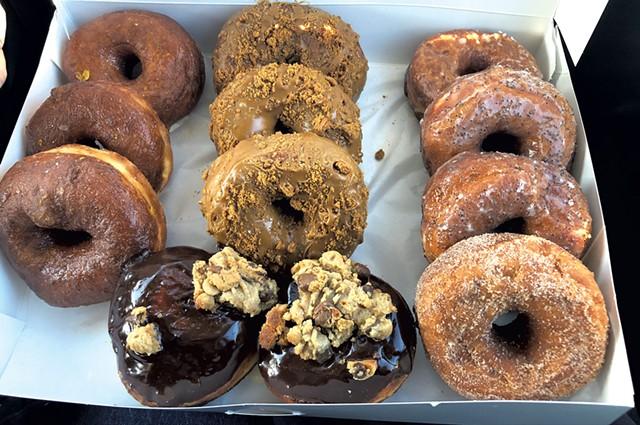 A dozen doughnuts from Hangry the Donut Bar - COURTESY OF HANGRY THE DONUT BAR