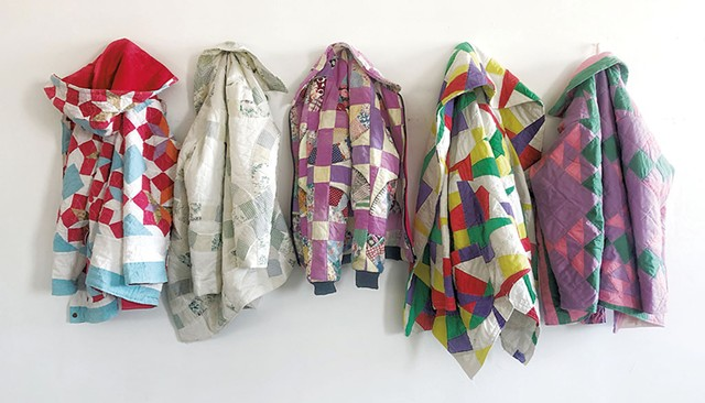 Quilt coats by Kathleen McVeigh - COURTESY OF KITTY BADHANDS