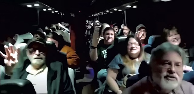 Trump supporters on the bus - SCREENSHOT