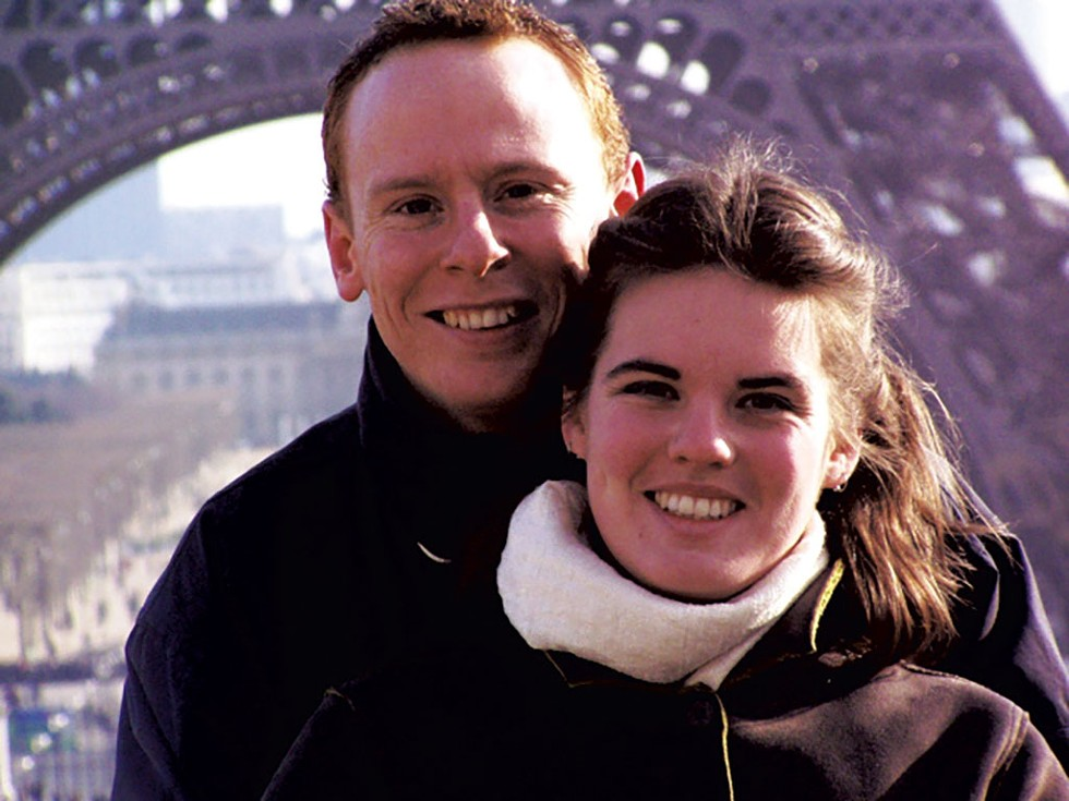 Adrian Hicks and Jane Lindholm in Paris, 2004 - COURTESY