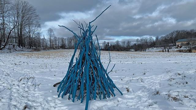 """Blue Bonfire"" by HCA Scene Shop - COURTESY OF AMY LILLY"