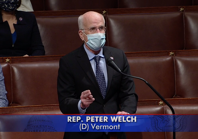 Vermont Rep. Peter Welch speaks in favor of impeachment Wednesday morning. - SCREENSHOT