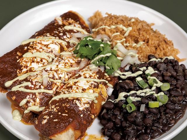 Enchiladas de mole - COURTESY OF SHEM ROOSE