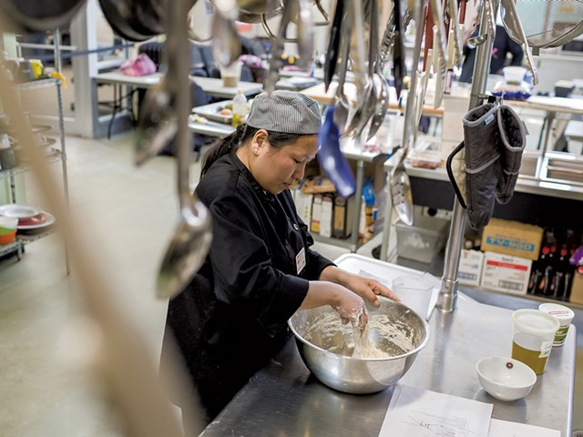 Maya Gurung-Subba as a student in the Community Kitchen Academy in 2018 - FILE: OLIVER PARINI