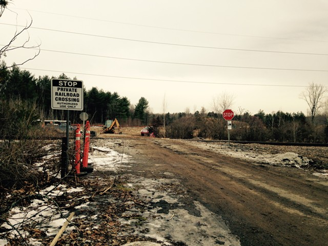 A January photo of the Vermont Railway project site in Shelburne - MOLLY WALSH