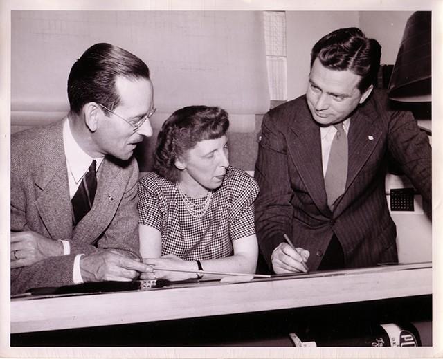Left to right: John French, Ruth Reynolds Freeman, William Freeman - COURTESY OF DEVIN COLMAN