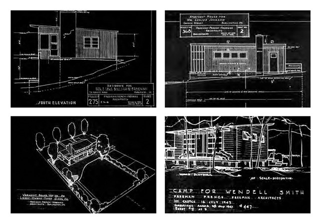 Some of Ruth Freeman's early architectural designs - COURTESY OF FREEMAN FRENCH FREEMAN