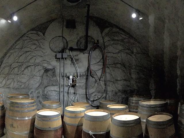 Barrels to age beer at Wunderkammer Biermanufaktur - COURTESY OF VASILIOS GLETSOS