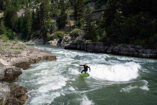 'River Surfer' - STILL FROM 'RIVER SURFER'