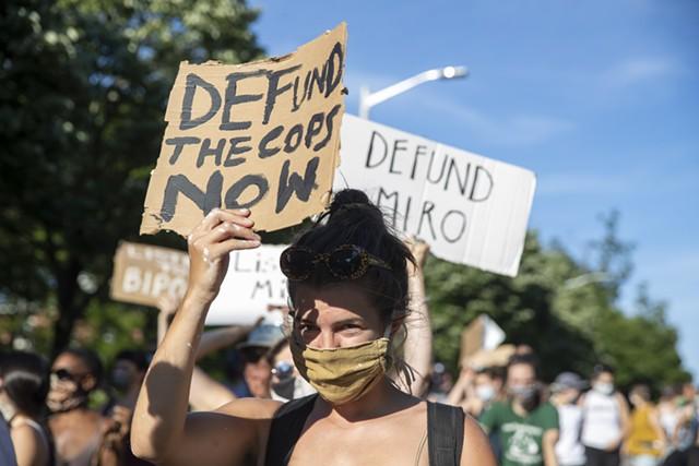 Burlington protesters over the summer - FILE: JAMES BUCK